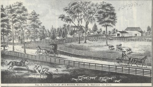 Residence and Stock Farm of W.S. Mann